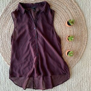 Forever 21 stripped button-up